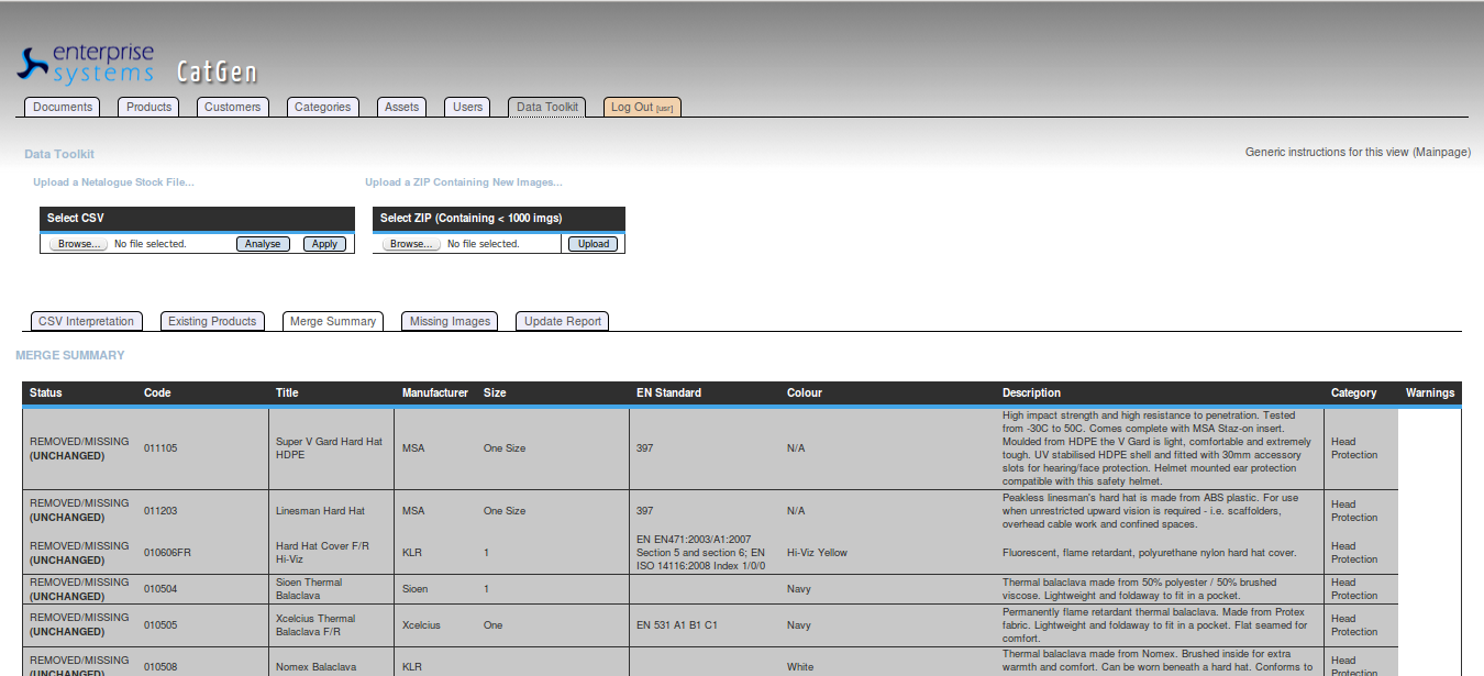 Simplify bulk product range uploads and updating